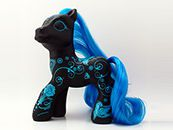 Art Pony (black/blue)